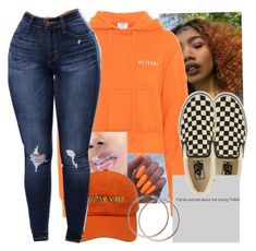 Explosion by melaninbabii on Polyvore featuring polyvore, fashion, style, RE/DONE, Vans and clothing