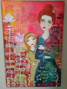 Belong to this world, original, acrylics on deep edge canvass, 80 × 120 cm