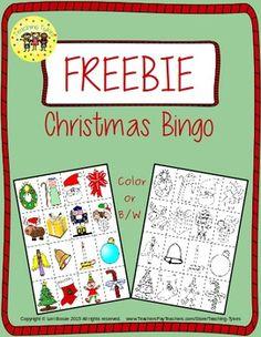 Christmas Bingo Freebie from https://www.teacherspayteachers.com/Product/Christmas-Interactive-1st-Grade-Math-Notebook-1967775