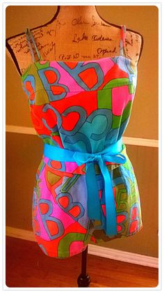 VINTAGE Swimsuit/  Pin up/ Romper/ 60's/ Mod/ by PussycatAlice, $135.00
