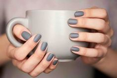 #Grey #gray #nails #cup