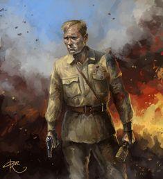Военный рисунок Фархада Киреева - Colonel Cassad Окружен, но не сломлен.