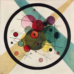 "This piece called ""Circles in a Circle"" by Wassily Kandinsky utilizes the…"