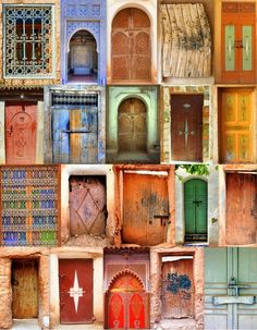 Moroccan Door Collage