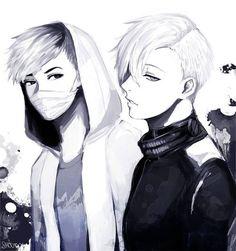 Tokyo Ghoul Hide and Kaneki ( undercut )