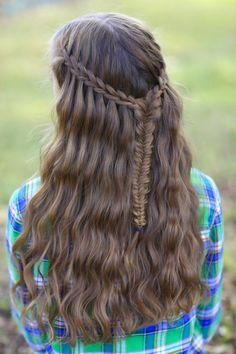 Scissor Waterfall Braid Combo   Cute Girls Hairstyles
