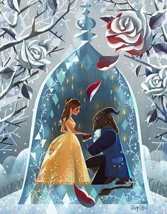 """disneygoldmine: """""""" Be Our Guest: An Art Tribute to Disney's Beauty And the Beast now at Gallery Nucleus in Alhambra, California. """" """""""