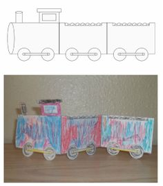 Cute printable train craft