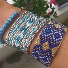 #lookdujour #lookoftheday #bluepower #bleu #bracelet #diy #braceletfaitmain #bijoux #bijouxfaitmain #tissage #perles #perlesmiyuki #miyuki #miyukibeads #beadloom #beading #jenfiledesperlesetjassume #Strasbourg #summer