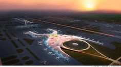The airport of the future will be less like a sprawling bus depot and more like a large, sustainable park.