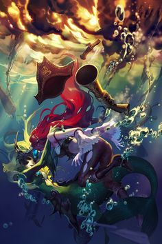 Fanart - Shipwreck by shilin (League of Legends fan art featuring Nami and Miss Fortune)