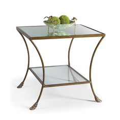 Chelsea House Kendal Antique Silver End Table Features: Mirrored top and glass bottom Antique silver table Measurements: Overall Dimensions: w x d x h Carton Dimensions: w x d x h Packed Volume: cu. Table Measurements, Patina Style, Bronze Mirror, Mirror Glass, Silver Table, Coffee And End Tables, Pink Home Decor, Accent Furniture, Home Accents