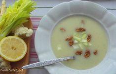 Spárga-karfiol krémleves ropogós szárzellerrel és dióval Cheeseburger Chowder, Soup, Soups