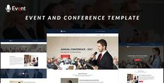 Event Responsive Template . Event is an event and conference responsive template.it;s suitable for seminar, events, conference and similar sites perfectly. You can use it as speaker, portfolio, meet up and on others