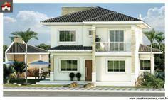 Planta de Sobrado - 4 Quartos - 207.33m² - Monte Sua Casa