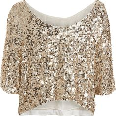 Vince Sequin Tee ($295) ❤ liked on Polyvore featuring tops, shirts, blouses, blusas, t-shirts, women, brown tops, short crop tops, scoop neck shirt and sequin crop top