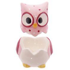 Ceramic Polka Dot Owl Egg Cup with Salt Cellar Top - 10847   Puckator Ltd http://www.puckator.co.uk/wholesale/ceramic-polka-dot-owl-egg-cup-with-salt-cellar-top-p-10847.html