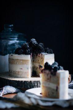 Blackberry Hazelnut Cake with Cream Cheese Frosting