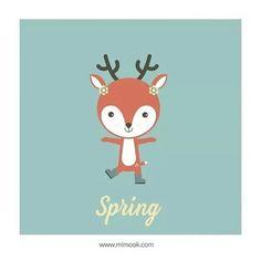 Ilustración de Primavera para la tienda online MIMOOK.COM