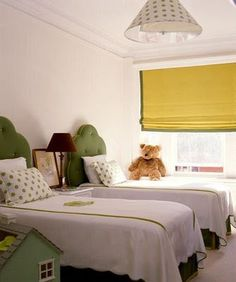 Little Green Notebook: Fabric Shades Galore Make fabric shades out of old mini blind set