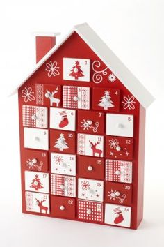 wooden advent calender. nice for kids