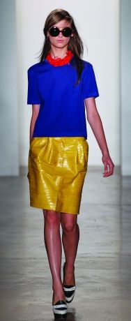 Peter Som 2012 Spring/Summer  <3<3 Colour Pop  Fabulous look. ON TREND-Brights & Chic Gloss