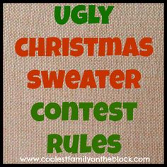 Ugly Christmas Sweater Contest Rules (Coolest Family on the Block) #christmas #tradition