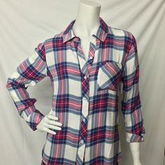 Rails- White and Pink Plaid Button Down - Suburban Casuals