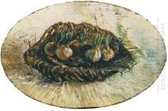 Basket Of Sprouting Bulbs 1887 / www.artisoo.com