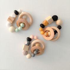 Juguetes de madera - Mordedor sensorial - hecho a mano por LittleMommy en…