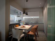 дизайн кухни совмещенной с балконом в однокомнатной квартире серии П-44