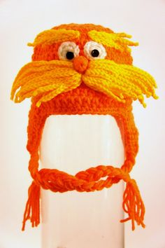 Lorax Hat The Lorax Inspired from Dr. Seuss by stylishbabyhats easy to replicate.