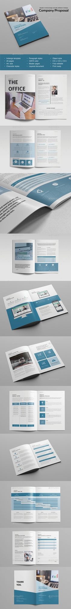 Proposal Template - #Proposals & #Invoices Stationery Download here: https://graphicriver.net/item/proposal-template/19455149?ref=alena994
