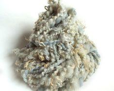 Handspun yarn chunky wool knit chunky yarn crochet wool yarn chunky yarn merino wensleydale yarn lock yarn blue grey bulky yarn knit