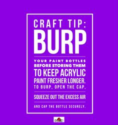 Want to know the best way to store craft paint?