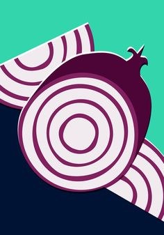 Bold Vector Onions Illustration Art Print. Food and Drink Collection. From $20