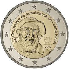 moneda conmemorativa 2 euros Francia 2012.