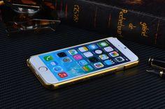IPhone 6 Völlig Neue LV/Gucci Goldene LOGO und Rahmen Elegante kunstleder Handyhülle