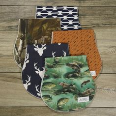 Burp Cloths-Burp Cloths Boy-Woodland Burp Cloths-Camo by bbsprouts