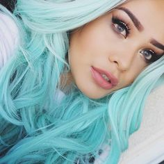 ∙∘☯∘∙ ѕтay rad grυngιeѕ ∙∘☯∘∙ ↠ ☾@GrungeForte☽ Dye My Hair, New Hair, Mint Pastel Hair, Mint Hair Color, Pastel Colored Hair, Mint Green Hair, Colorful Hair, Aqua Color, Hair Colors