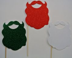 3 Beard Christmas Photo Booth Props green Red and White Beards for the holidays Xmas Props Santa Beards Christamas Photot Booth Christmas Photo Booth Props, Christmas Photos, Photo Props, Office Christmas, Xmas, Santa Beard, Ugly Sweater Party, Merry Little Christmas, Booth Ideas