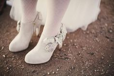 bridal booties / photo by Solas Photography