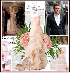 """13/05/2012 Serena van der Woodsen and Nate Archibald Wedding"" by thefrenchfashionista ❤ liked on Polyvore"
