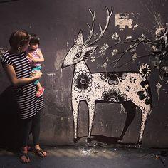 #street #streetart #walls #wallart #art #artwork#artist #folk #folkart #folkstreetart #painting #bw #blackwork #bw #animal #deer #hươu #illustrator #graffiti #Vnstreetart  #5hadows #5hadowsart #054cafe #Huế #Vietnam