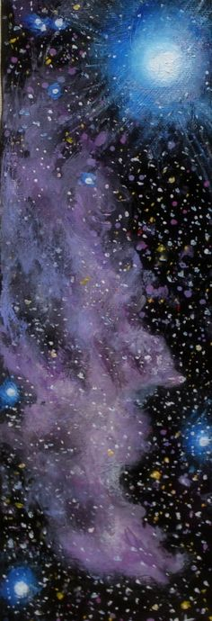 Art painting nebula supernova space art deep by ThisArtToBeYours, $55.00