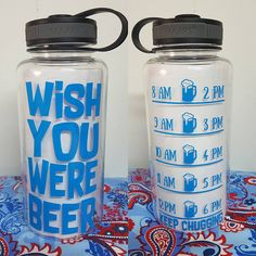 Your place to buy and sell all things handmade Gym Water Bottle, Cleaning With Bleach, Custom Water Bottles, Wish, Beer, Training, Ship, Messages, Awesome