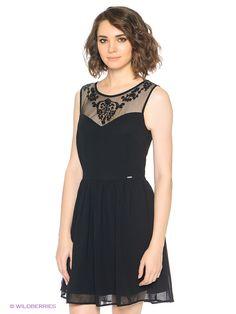 Платье Cropp. Цвет черный.