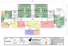 Office planning for a large office. #officelayout