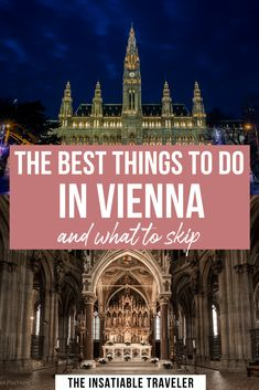 The best things to do in Vienna (and what to skip! Vienna is a beautiful city: There are so many great things to do in Vienna, Austria. This guide will tell you what not to miss in Vienna. What to do in Vienna Travel Europe Cheap, Europe Travel Guide, European Travel, Travel Destinations, Best Places To Travel, Cool Places To Visit, Austria Travel, Europe Photos, Vienna Austria