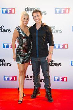 Le patineur Brian Joubert et la danseuse Katrina Patchett lors de la conférence de presse de lancement de la saison 5 de Danse avec les Stars